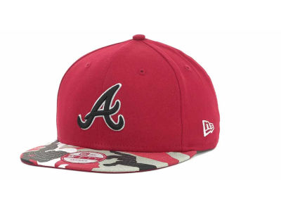 Atlanta Braves MLB Camo Strapback 9FIFTY Cap Hats