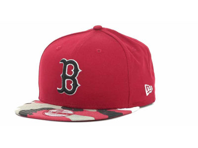 Boston Red Sox MLB Camo Strapback 9FIFTY Cap Hats