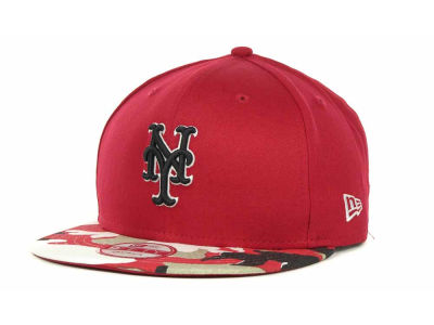 New York Mets MLB Camo Strapback 9FIFTY Cap Hats