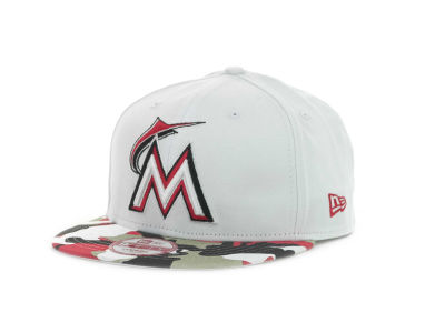 Miami Marlins MLB Camo Strapback 9FIFTY Cap Hats