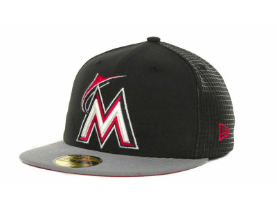 Miami Marlins MLB Grid Game 59FIFTY Cap Hats