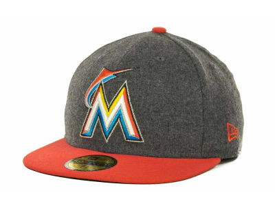 Miami Marlins MLB Melton Basic 59FIFTY Cap Hats