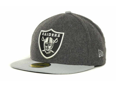 Oakland Raiders NFL Melton Basic 59FIFTY Cap Hats