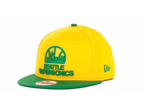 Seattle SuperSonics New Era NBA Hardwood Classics Turnover Strapback 9FIFTY Cap Hats