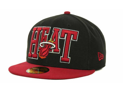 Miami Heat NBA Hardwood Classics 2TB 59FIFTY Cap Hats