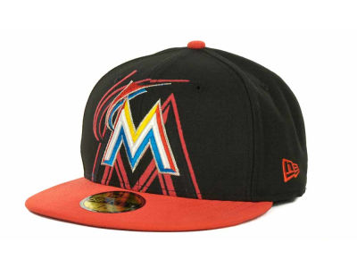 Miami Marlins MLB Kids Over Flock 59FIFTY Cap Hats