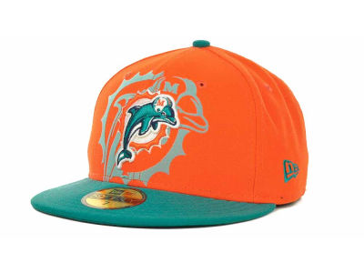 Miami Dolphins NFL Kids Over Flock 59FIFTY Cap Hats