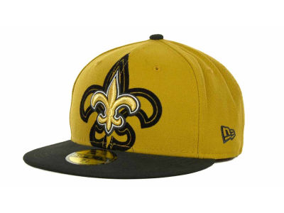 New Orleans Saints NFL Kids Over Flock 59FIFTY Cap Hats