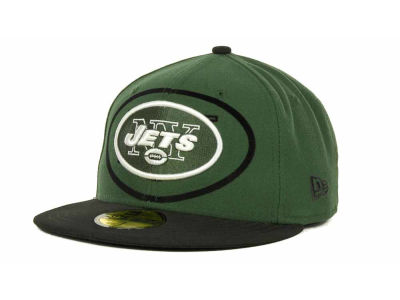 New York Jets NFL Kids Over Flock 59FIFTY Cap Hats