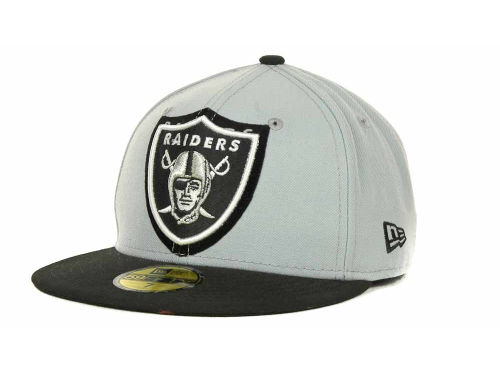 Oakland Raiders New Era NFL Kids Over Flock 59FIFTY Cap Hats