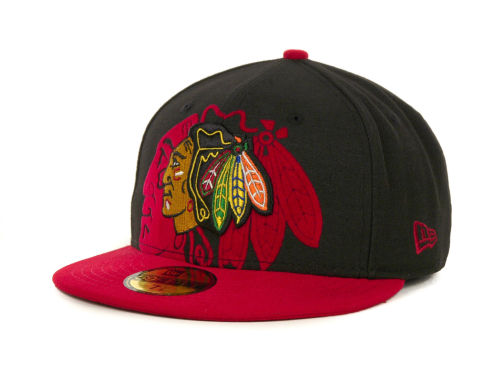 Chicago Blackhawks New Era NHL Kids Over Flock 59FIFTY Cap Hats