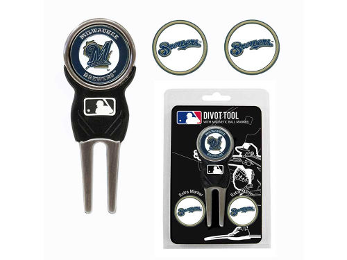 Milwaukee Brewers Team Golf Divot Tool and Markers