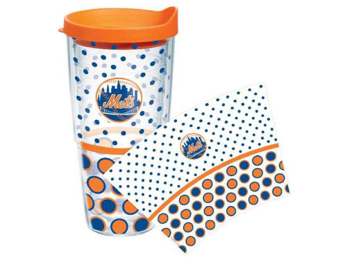 New York Mets Tervis Tumbler 24oz. Polka Dot Tumbler With Lid