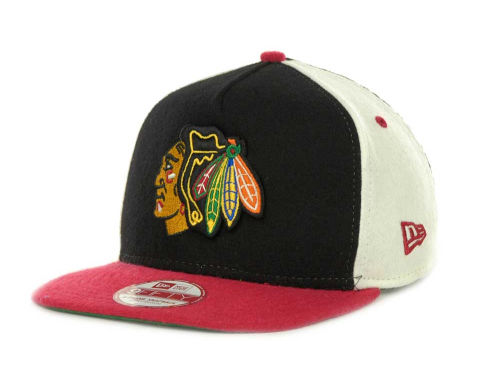 Chicago Blackhawks New Era NHL Triple Melt Strapback 9FIFTY Cap Hats