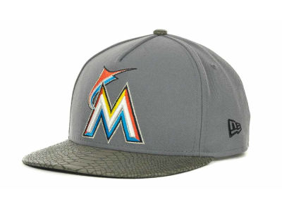 Miami Marlins MLB Snake Strapback 9FIFTY Cap Hats