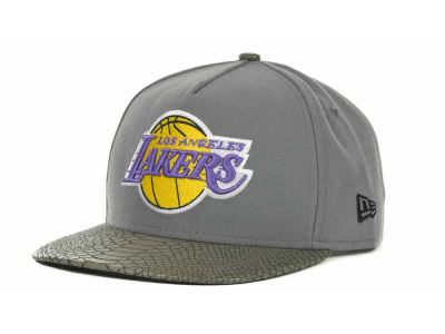 Los Angeles Lakers NBA Hardwood Classics Snake Strapback 9FIFTY Cap Hats