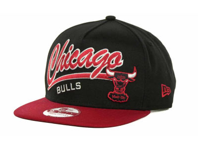 Chicago Bulls NBA Script Logo Snapback 9FIFTY Cap Hats