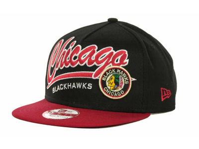 Chicago Blackhawks NHL Script Logo Snapback 9FIFTY Cap Hats