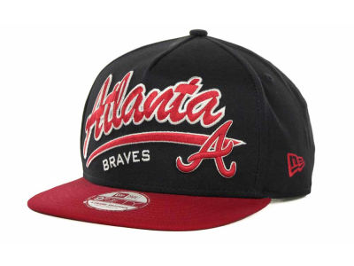 Atlanta Braves MLB Script Logo Snapback 9FIFTY Cap Hats