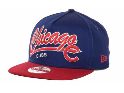 Chicago Cubs MLB Script Logo Snapback 9FIFTY Cap Hats
