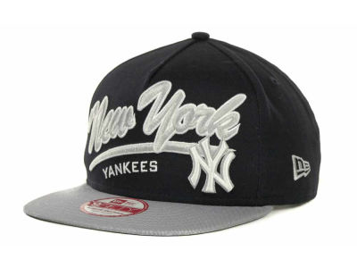 New York Yankees MLB Script Logo Snapback 9FIFTY Cap Hats