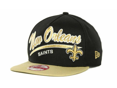 New Orleans Saints NFL Script Logo Snapback 9FIFTY Cap Hats