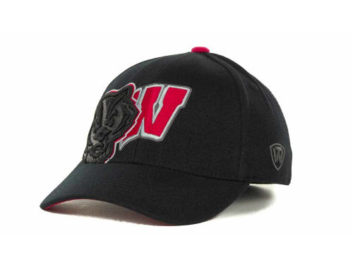 Wisconsin Badgers Top of the World NCAA Clutch Black Cap Hats