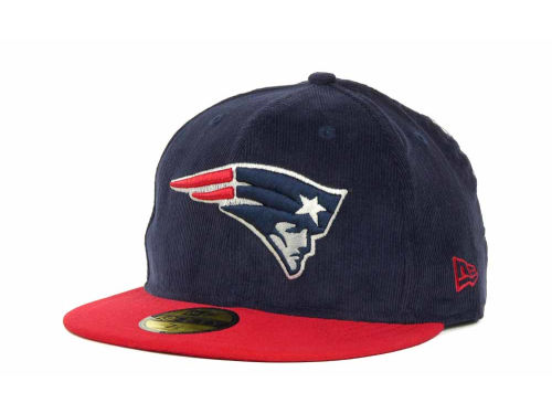 New England Patriots New Era NFL Team Cord 59FIFTY Cap Hats