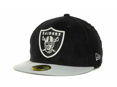 Oakland Raiders NFL Team Cord 59FIFTY Cap Hats