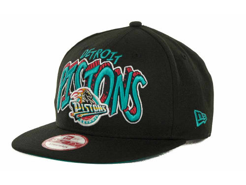 Detroit Pistons New Era NBA Hardwood Classics Van Ice Strapback 9FIFTY Cap Hats