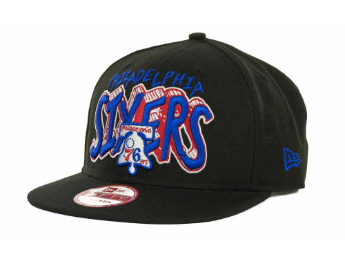 Philadelphia 76ers New Era NBA Hardwood Classics Van Ice Strapback 9FIFTY Cap Hats