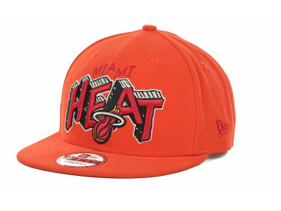 Miami Heat NBA Hardwood Classics Van Ice Strapback 9FIFTY Cap Hats