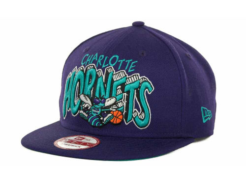 New Orleans Hornets New Era NBA Hardwood Classics Van Ice Strapback 9FIFTY Cap Hats