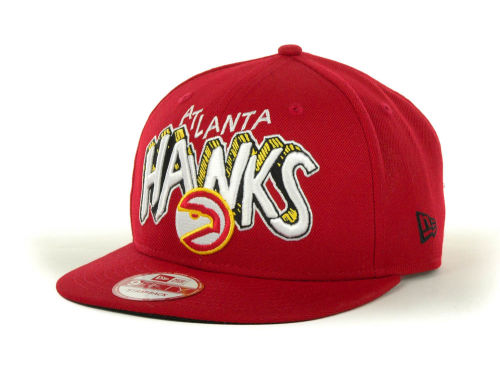 Atlanta Hawks New Era NBA Hardwood Classics Van Ice Strapback 9FIFTY Cap Hats