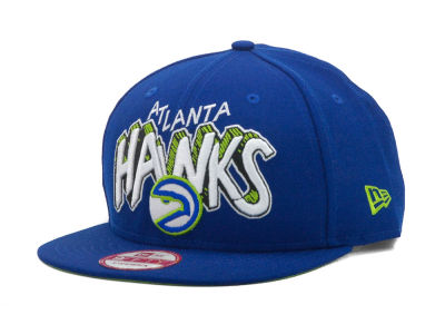 Atlanta Hawks NBA Hardwood Classics Van Ice Strapback 9FIFTY Cap Hats