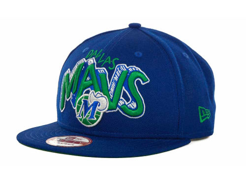 Dallas Mavericks New Era NBA Hardwood Classics Van Ice Strapback 9FIFTY Cap Hats