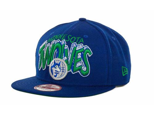 Minnesota Timberwolves New Era NBA Hardwood Classics Van Ice Strapback 9FIFTY Cap Hats