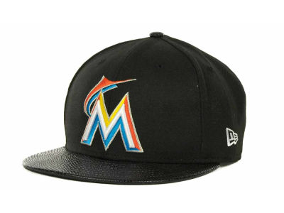 Miami Marlins MLB Snake Thru 9FIFTY Strapback Hats