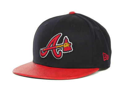 Atlanta Braves MLB Snake Thru 9FIFTY Strapback Hats