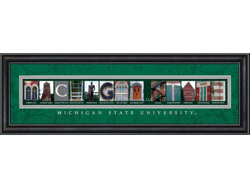 Michigan State Spartans Campus Letter Art