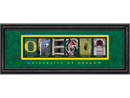 Oregon Ducks Campus Letter Art