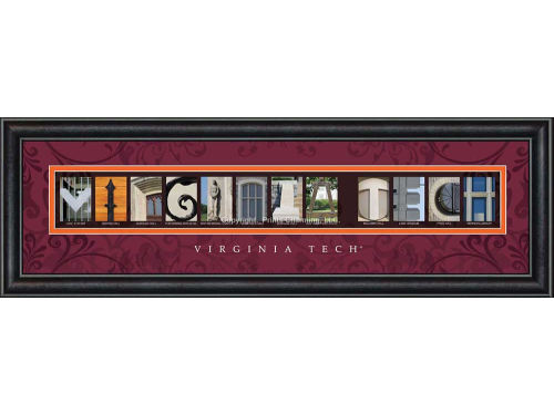 Virginia Tech Hokies Campus Letter Art