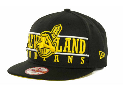 Cleveland Indians MLB Neon Bar Strapback 9FIFTY Cap Hats