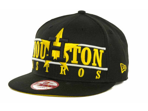 Houston Astros New Era MLB Neon Bar Strapback 9FIFTY Cap Hats