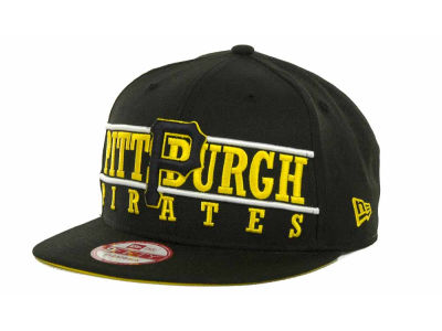 Pittsburgh Pirates MLB Neon Bar Strapback 9FIFTY Cap Hats