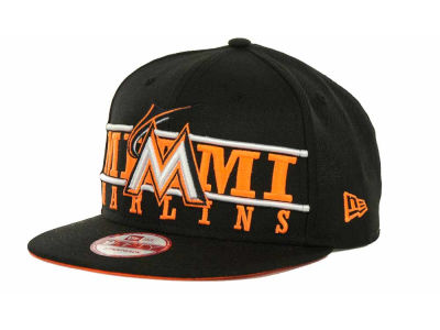 Miami Marlins MLB Neon Bar Strapback 9FIFTY Cap Hats