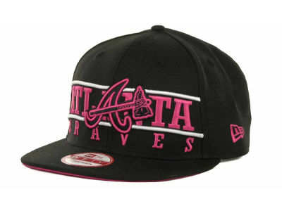 Atlanta Braves MLB Neon Bar Strapback 9FIFTY Cap Hats