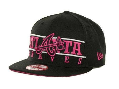 Atlanta Braves New Era MLB Neon Bar Strapback 9FIFTY Cap Hats
