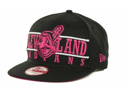 Cleveland Indians New Era MLB Neon Bar Strapback 9FIFTY Cap Hats