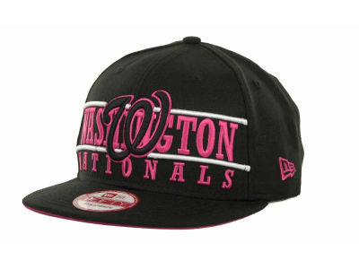 Washington Nationals MLB Neon Bar Strapback 9FIFTY Cap Hats